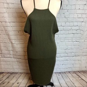 NWT Charlotte Russe Ribbed Low Back Dress